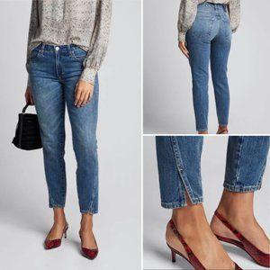 AMO   Twist Split-Cuff Jeans in Dark Vintage